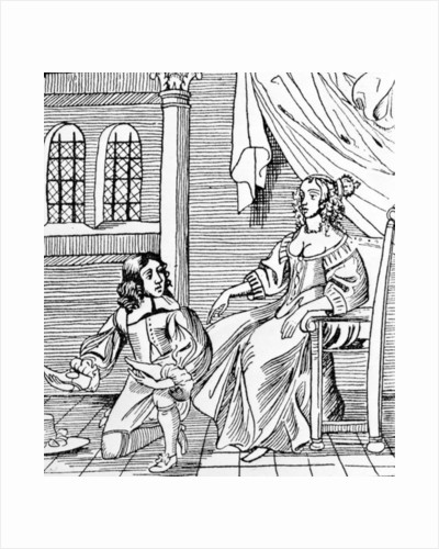A Seventeenth-Century Shoemaker Fitting a Distinguished Customer by English School