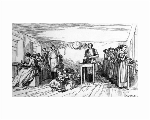 Shoemaking, mid C19th by Dalziel Brothers