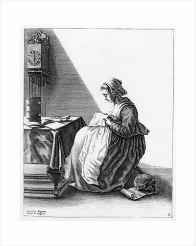 A Woman Making a Ruff by Geertryut Roghman