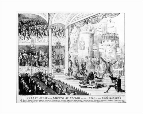 The Last Scene of the Triumph of Reform or the Fall of the Boro'mongers by Charles Jameson Grant