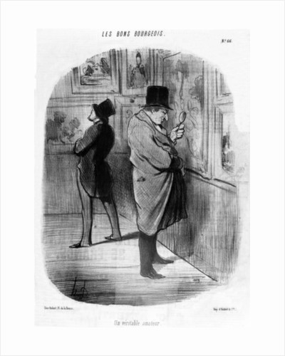A True Art Lover by Honore Daumier