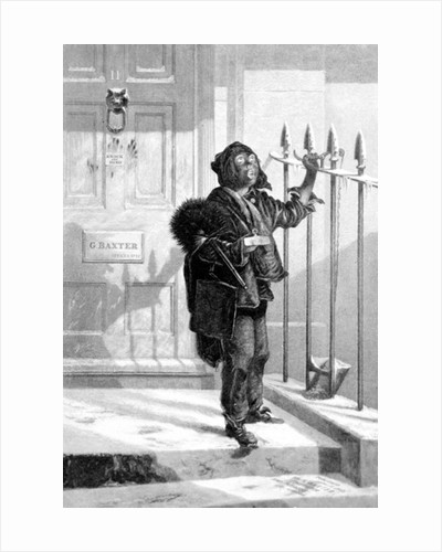 Chimney Sweep on the Morning Call,1853 by English School