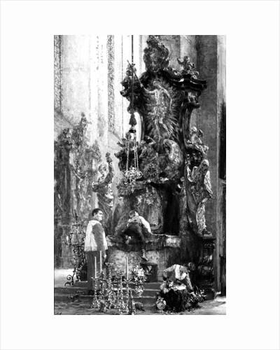 Drawing of an Altar by Adolph Friedrich Erdmann von Menzel