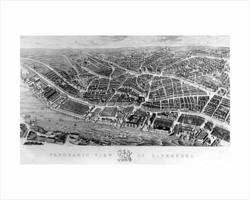 Panoramic View of Liverpool, after a watercolour by Ackerman by English School