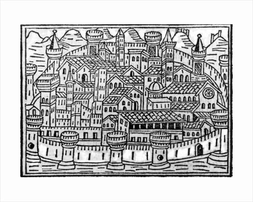 "Illustration taken from ""Supplementum Chronicum"" by Giacomo Filippo Foresti, Venice by Italian School"
