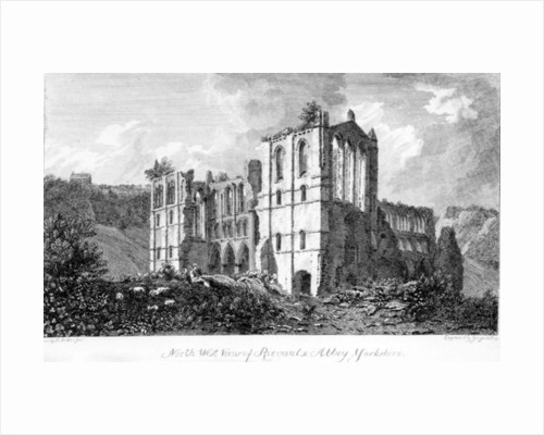 Rivaulx Abbey, Yorkshire by English School