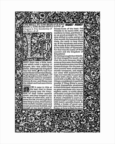 Front Page of Chapte by William Morris