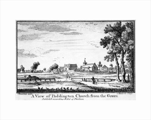 A View of Paddington Church from the Green, by Haynes King