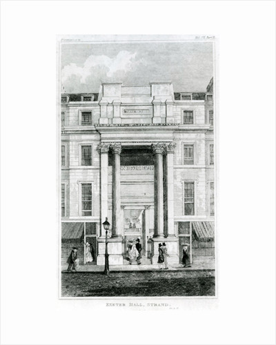 Exeter Hall, Strand, London from Gentleman's Magazine by English School