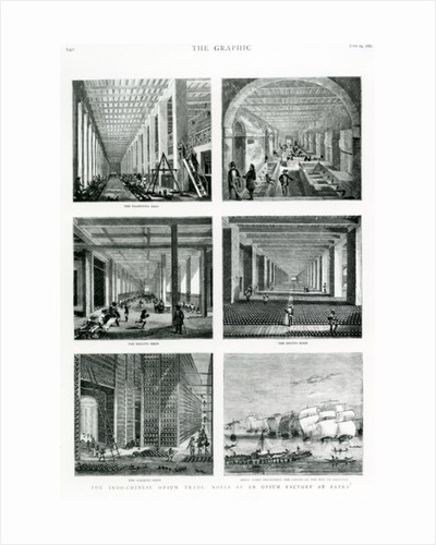 """The Indo-Chinese Opium Trade: Notes at an Opium Factory at Patna, taken from """"The Graphic"""" by English School"""