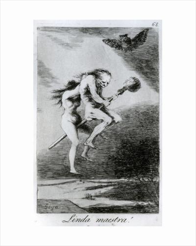 Pretty teacher! by Francisco Jose de Goya y Lucientes