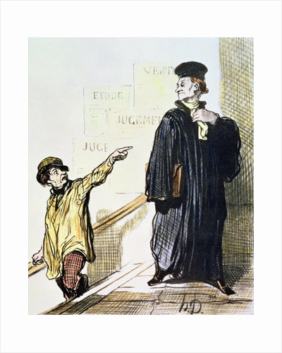 An Unsatisfied Client by Honore Daumier