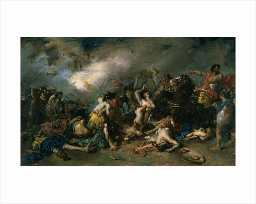 The Final Day of Sagunto in 219BC by Francisco Domingo Marques