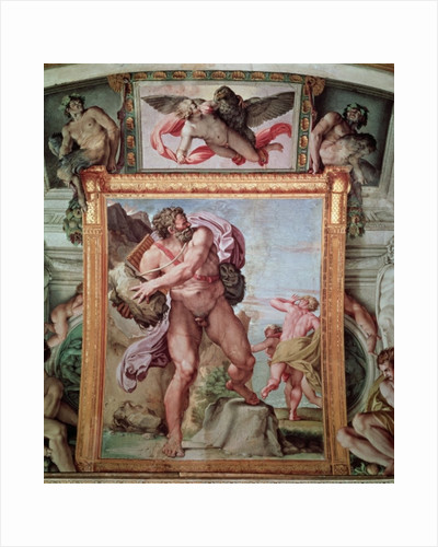 Polyphemus Attacking Acis and Galatea by Annibale Carracci