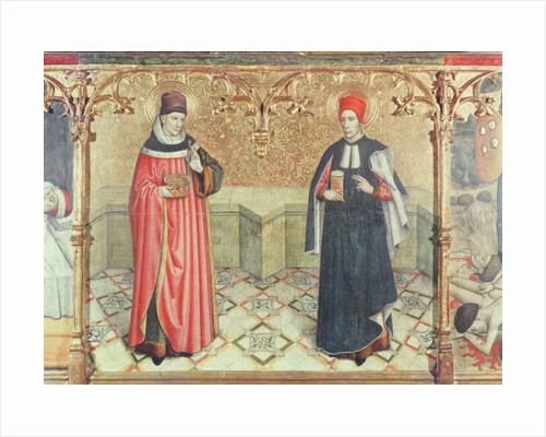 St. Cosmas and St. Damian by Jaume Huguet