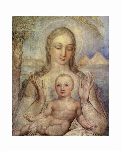 The Virgin and Child in Egypt by William Blake