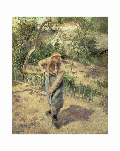 Woman Digging in an Orchard by Camille Pissarro