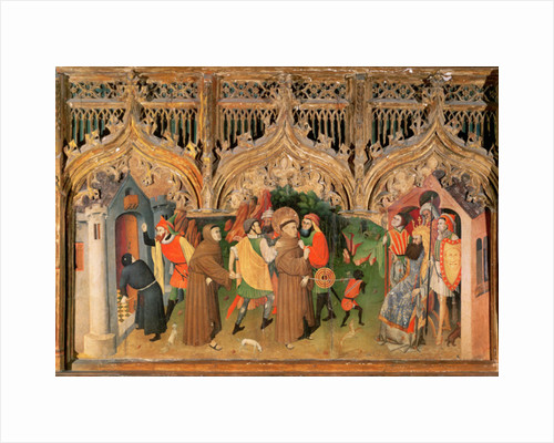 Scene from the Life of St. Francis from the Life of the Virgin and St. Francis Altarpiece by Nicolas Frances