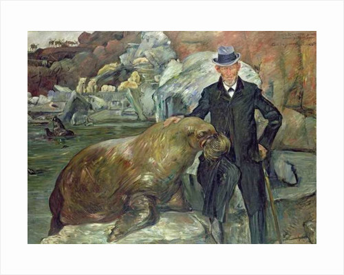 Carl Hagenbeck in His Zoo by Lovis Corinth