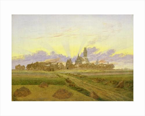 Dawn at Neubrandenburg by Caspar David Friedrich