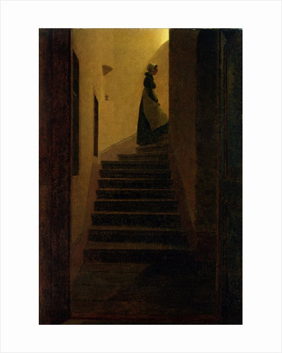 Caroline on the Stairs by Caspar David Friedrich