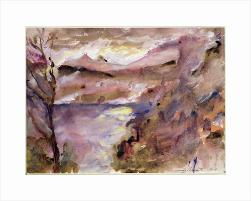 View of Walchen Lake by Lovis Corinth