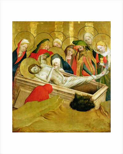 The Entombment, panel from the St. Thomas Altar from St. John's Church, Hamburg by Master Francke