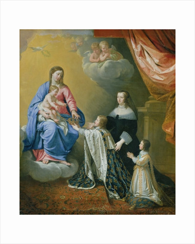 The Virgin Mary gives the Crown and Sceptre to Louis XIV by Philippe de Champaigne