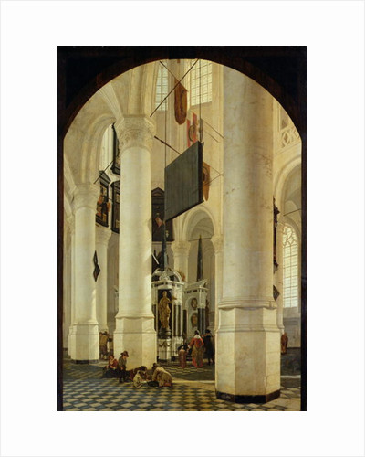 Interior of the Nieuwe Kerk in Delft with the Tomb of William the Silent by Gerrit Houckgeest