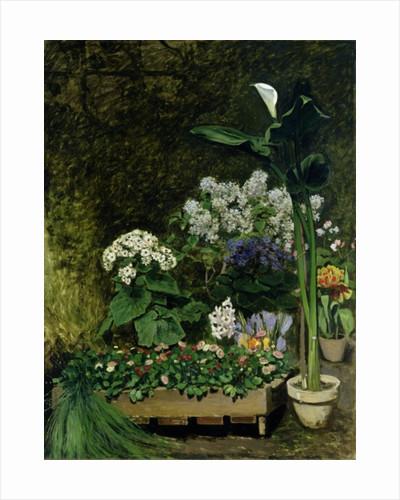 Flowers in a Greenhouse by Pierre Auguste Renoir