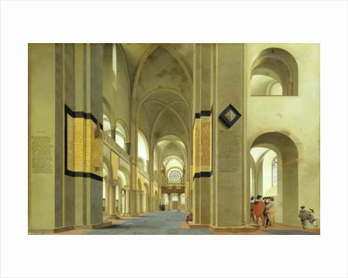 Interior of the Marienkirche in Utrecht by Pieter Jansz Saenredam