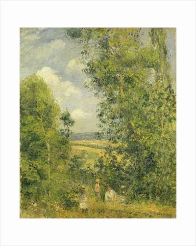 A Rest in the Meadow by Camille Pissarro
