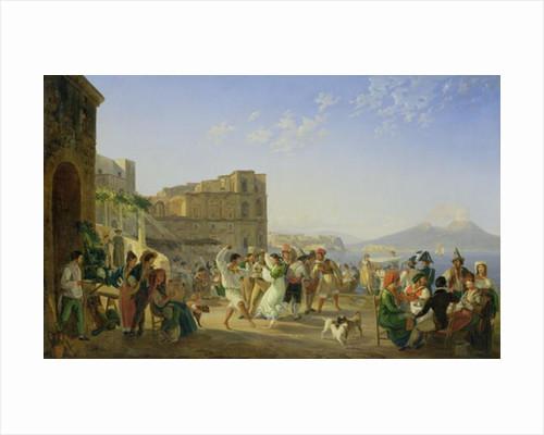 Italian Dancing, Naples by Carl Wilhelm Goetzloff