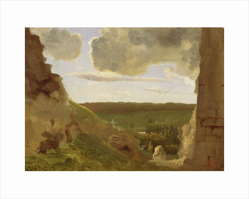 Medieval Ruins by Jean Baptiste Camille Corot
