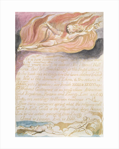 The Marriage of Heaven and Hell; As a new heaven is begun by William Blake