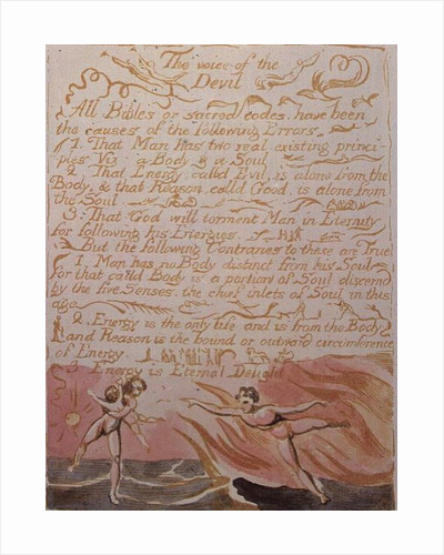 The Marriage of Heaven and Hell; The Voice of the Devil by William Blake
