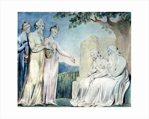 Illustrations of the Book of Job; Job accepting Charity by William Blake