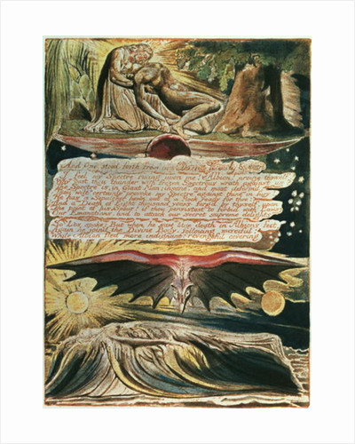"Jerusalem The Emanation of the Giant Albion: ""And One stood forth"" by William Blake"