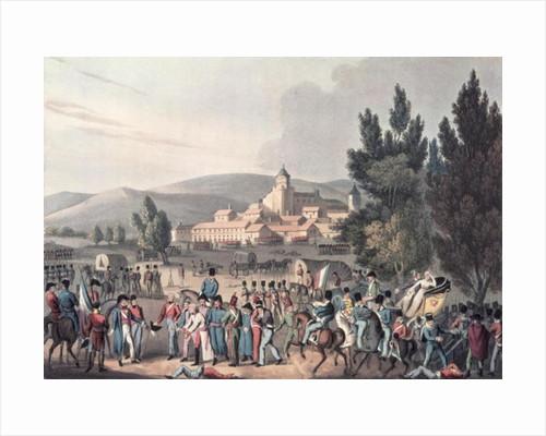 Battle of Vittoria, 1813, Bringing in the Prisoners, etched by I. Clarke, aquatinted by M. DuBourg by William Heath