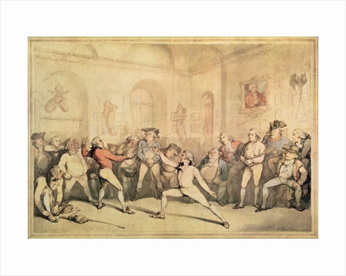 Angelo's Fencing Room by Thomas Rowlandson