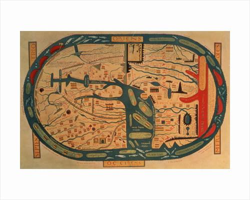 Copy of an 8th century Beatus mappamundi by Unknown