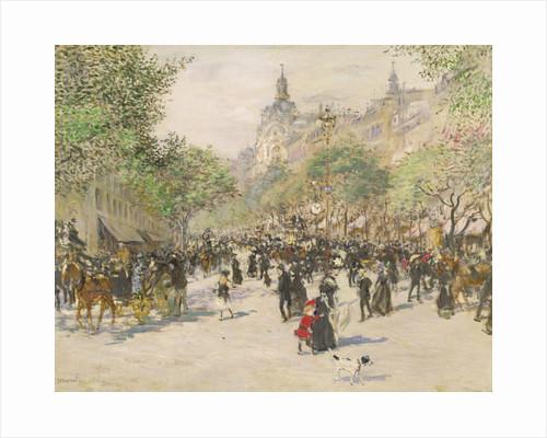 Boulevard Haussmann by Jean Francois Raffaelli