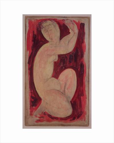 Red Caryatid by Amedeo Modigliani