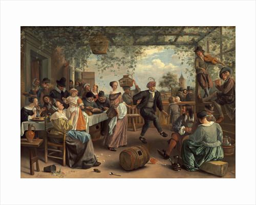 The Dancing Couple by Jan Havicksz. Steen