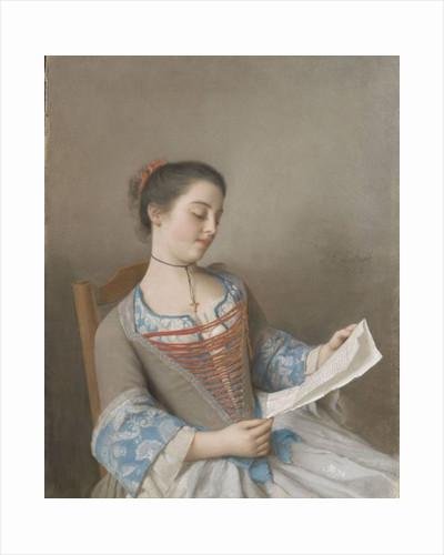 La liseuse by Jean-Etienne Liotard