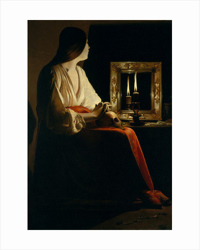 The Penitent Magdalen by Georges de la Tour