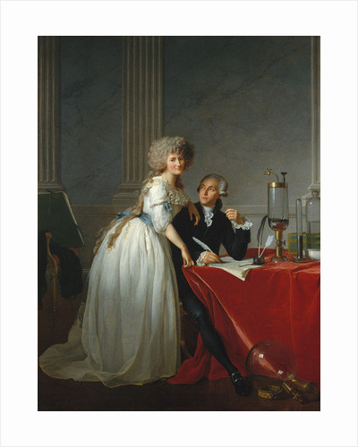 Portrait of French chemist Antoine Laurent Lavoisier with wife by Jacques Louis David