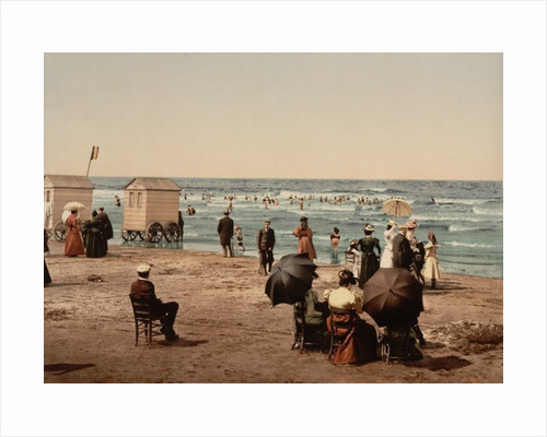 The beach, Blankenberghe in Belgium by Anonymous