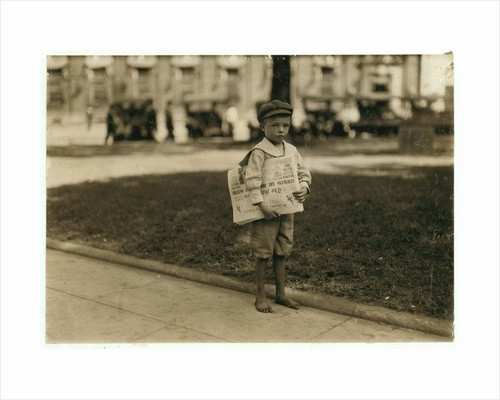 7 year old newsboy Ferris in Mobile, Alabama by Lewis Wickes Hine