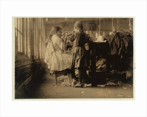 Child raveler and looper in Loudon Hosiery Mills, Tennessee by Lewis Wickes Hine
